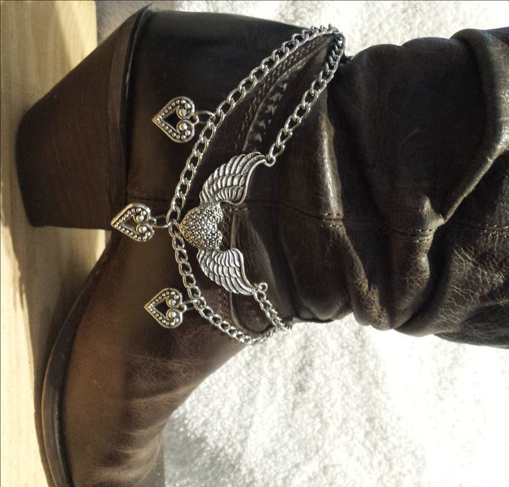 Flying Heart Boot Bracelet|Boot Bling|Boot Chain|Western Accessories|Boot Accessories|Cowboy boot