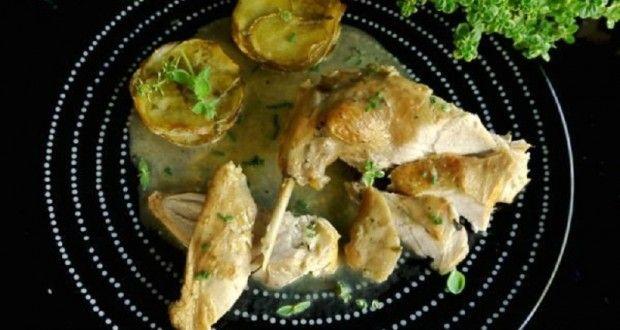 κουνέλι με λεμονοθύμαρο και πατάτες-μάφιν - Pandespani.com
