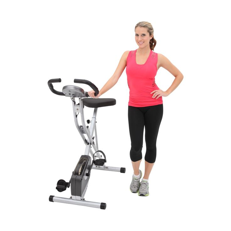Exerpeutic 250XL Folding Magnetic Upright Bike with Pulse Monitoring - Exercise Bikes at Hayneedle