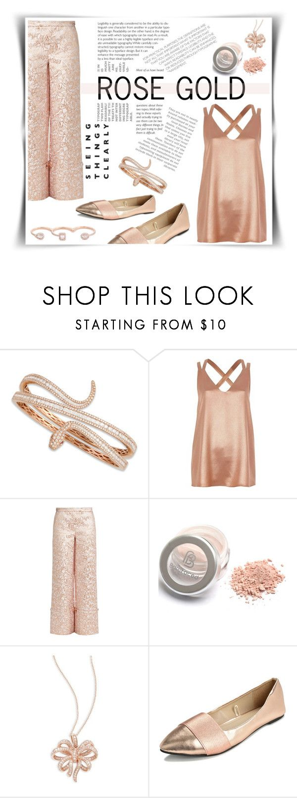 """""""Rose Gold Xmas"""" by adalov3lace on Polyvore featuring moda, Roberto Coin, River Island, Osman, Effy Jewelry e Messika"""