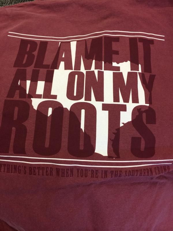 Blame it all on my roots..I showed up in this amazing longsleeve.
