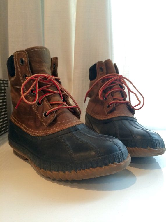 Vintage Sorel 8 Tall Duck Boots  Men's 7 / by HOOTandHOLLERloot