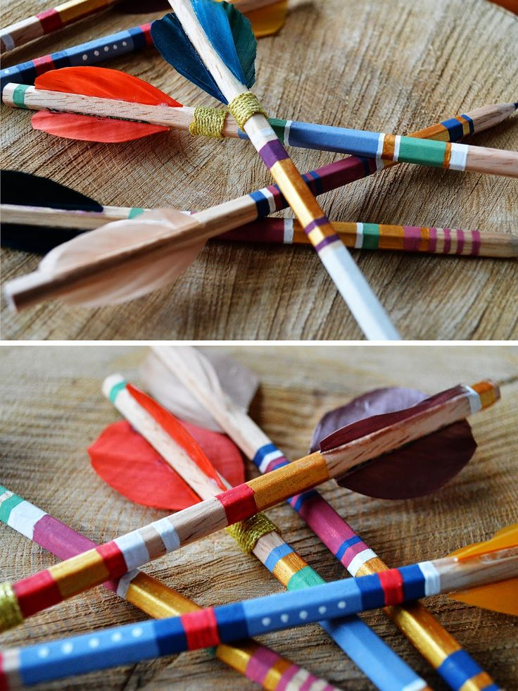 CHANNELING MY INNER KATNISS EVERDEEN: DIY ARROW PENCILS - Motte