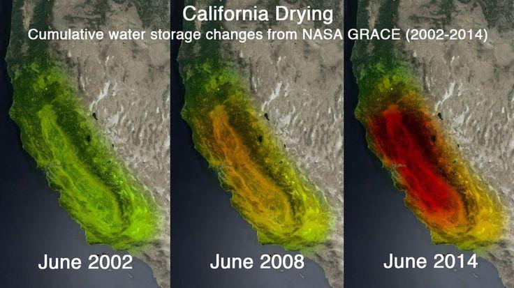 NASA Satellites Put California Drought Into Shocking Perspective