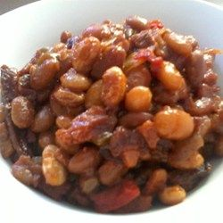 This recipe for Boston baked beans uses navy beans, molasses, brown sugar, and ketchup to create a wonderful old-fashioned baked bean flavor.