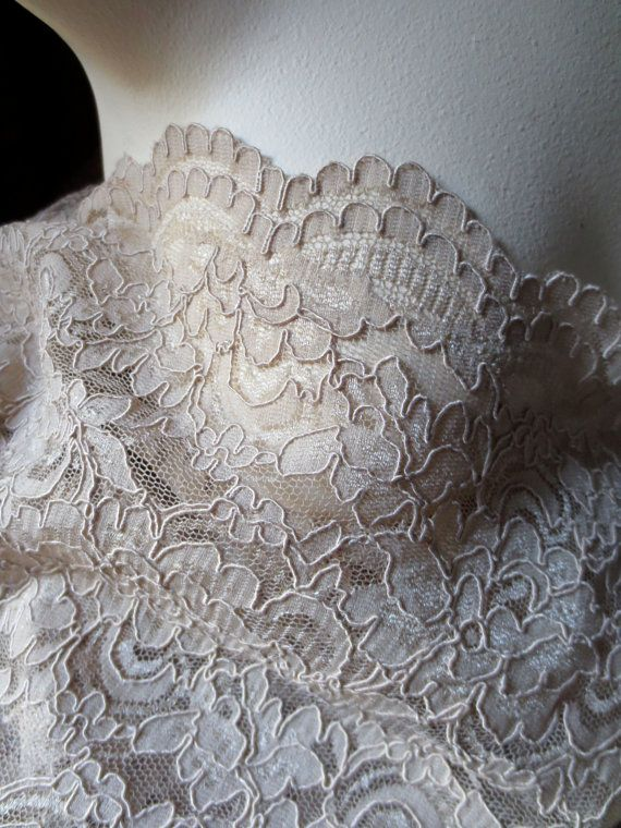 Alencon Lace in Latte for Bridal Mother of the by MaryNotMartha, $18.50