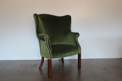 Rare-Sublime-Ralph-Lauren-Compact-Wing-Back-Armchair-in-English-Riding-Gr