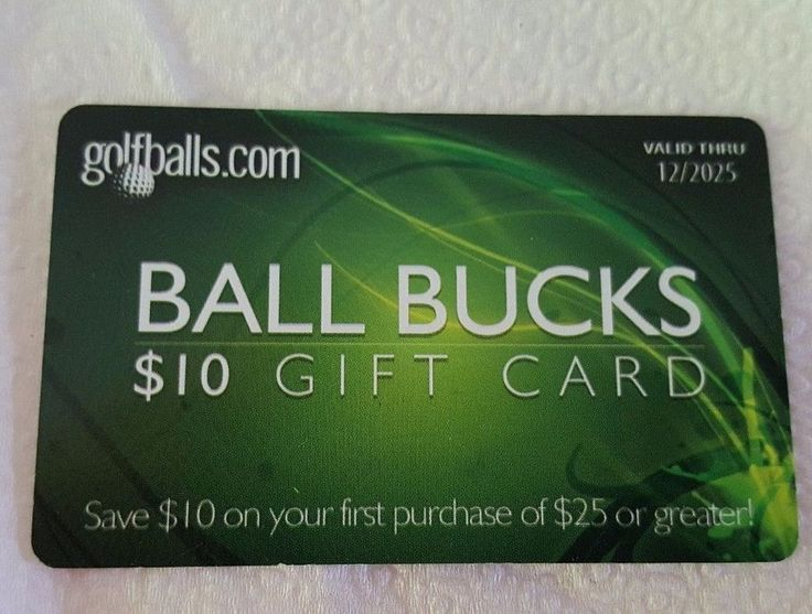 Golfballs.com Gift Card $10 off $25 Mail Delivery  | Gift Cards & Coupons, Gift Cards | eBay!
