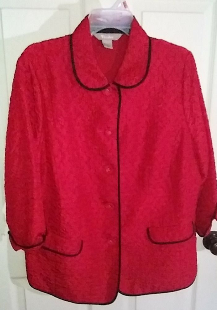 ecd83039b2a4f Details about Plus Size 16 Blazer Red Suit Jacket by Tan Jay in 2019 ...