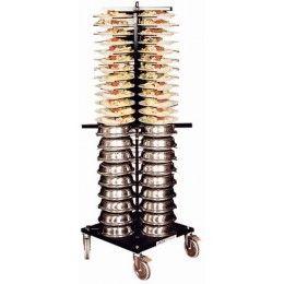 Torre emplatadora para transportar una gran cantidad de platos en un tiempo mínimo, ya sea para servir, para almacenar o para lavar. Fabricado en acero con acabado lacado negro. Resistente a los arañazos y al óxido.