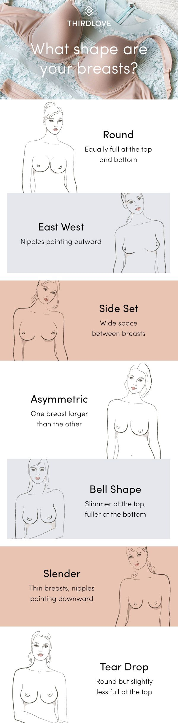 Shape matters. We developed our Breast Shape Dictionary because we think perfect fit is more than a numbered size. With your shape in mind, you're better equipped to pick styles that fit your body like a glove.