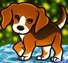 how to draw a beagle puppy, beagle puppy