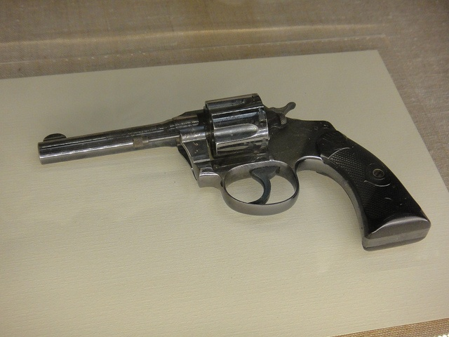 The pistol that did the deed. While on a campaign stop in Milwaukee, TR survived an assassination attempt. John Schrank, an anti-third term fanatic, claimed that he was told in a dream to shoot TR. As TR prepared to give a speech, he was shot in the chest. Luckily, he had his folded speech and eyeglass case in his breast pocket. They deflected the bullet and protected TR from suffering a more serious wound.