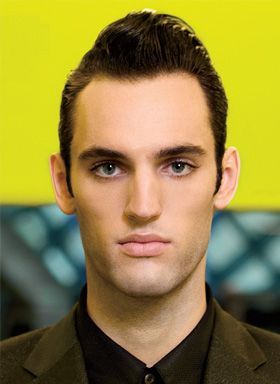 i swear he has on false lashes....