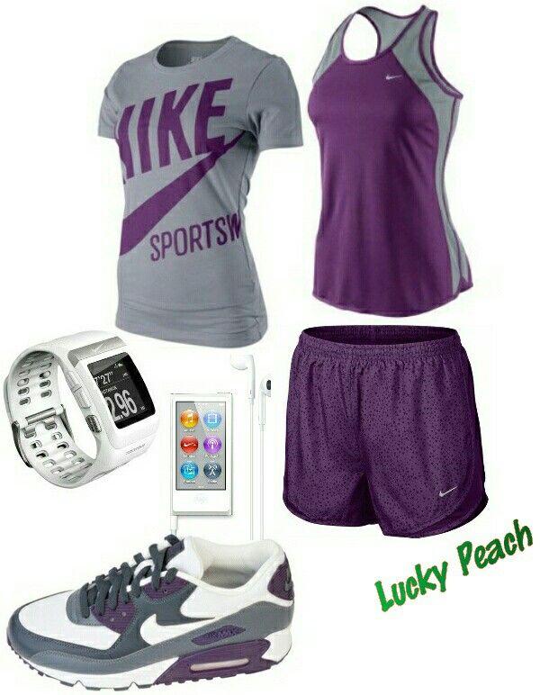 Women's fashion Purple Nike outfit