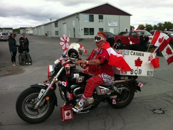 Canada Bob at the Kraft Hockeyville parade.