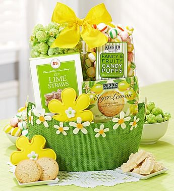 94 best easter images on pinterest easter eggs hoppy easter and spring has sprung sweets gift basket negle Images