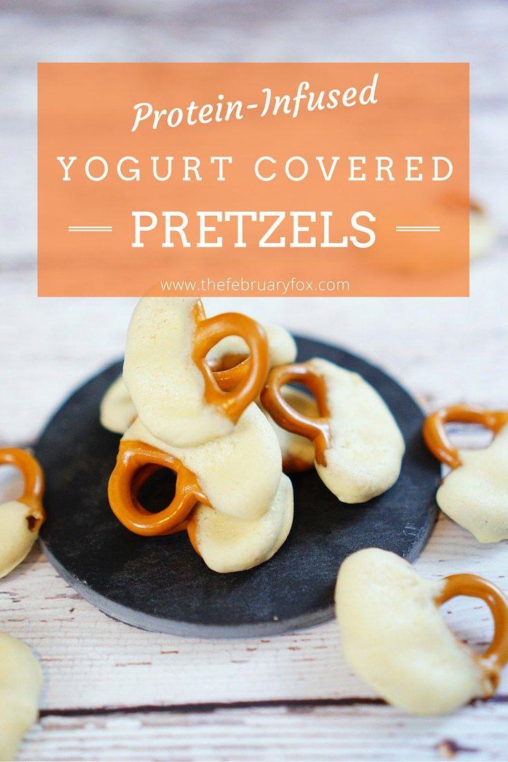 Protein-Infused Yogurt Covered Pretzels - TheFebruaryFox.com #HolidayWithChobani AD #cbias