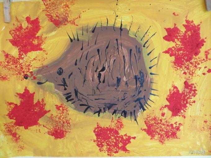 podzim - ježek