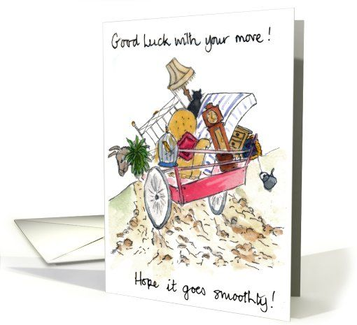 Good Luck On Your Surgery Quotes: Good Luck With Your Move Card