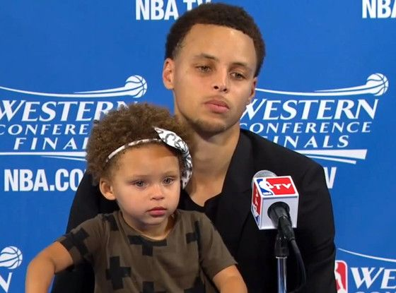 Stephen Curry's Adorable Daughter Riley Took Over His Post-Game Press Conference and Proved She Was the Real MVP