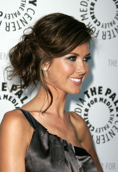 Audrina Patridge Hair. This would be a pretty prom hair updo for @KendallEmC