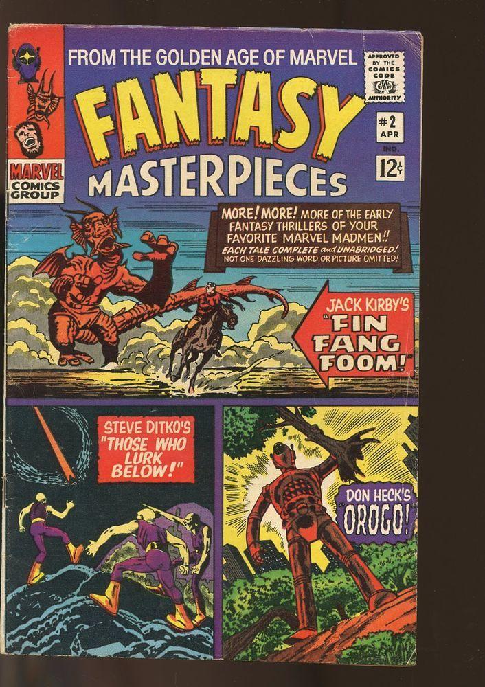 FANTASY MASTERPIECES #2 VERY GOOD KIRBY ART 1966 MARVEL