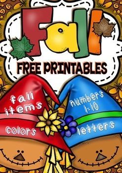 Fall No Prep Free Math And ELA Printables For Pre K Kinder PreschoolFree MathAlphabet LettersScarecrow Coloring Pages