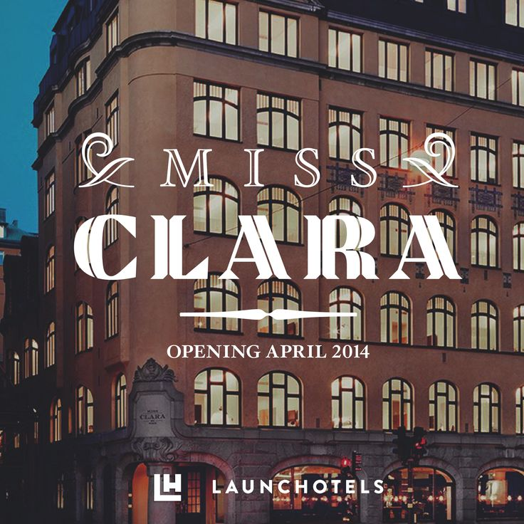 Miss Clara is the rebirth of one of Stockholm's most treasured Art Nouveau buildings. The 92-room hotel is housed in the former Ateneum girls' school building, erected in 1910.   http://www.missclarahotel.com/en/