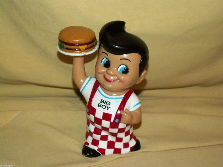 Big Boy Bank Funko Elias Brothers Restaurants Promo Plastic 1999 Hamburger Plug