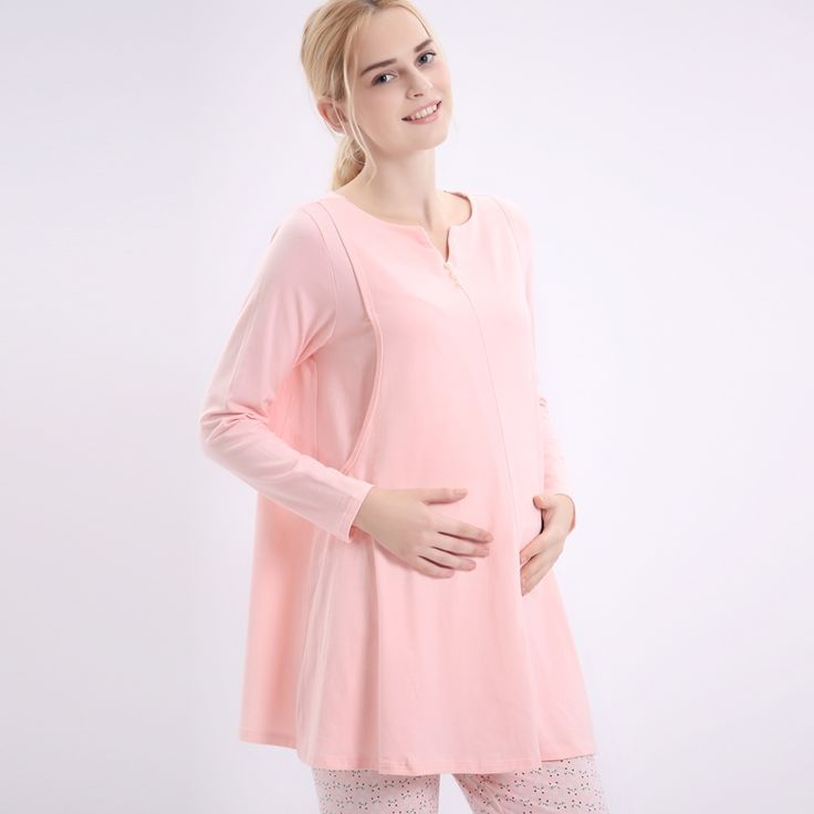 29.35$ Buy here - alitems.com/... - New fashion women maternity cotton t-shirt big size nursing clothes sets breasting clothes pink and gray L,XL,XXL Clothing, Shoes & Jewelry - Women - Plus-Size - Wantdo - women big size clothes - http://amzn.to/2lfaYAF