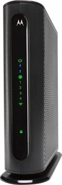 Motorola - N300 Router with DOCSIS 3.0 Cable Modem - Gray - Front_Zoom