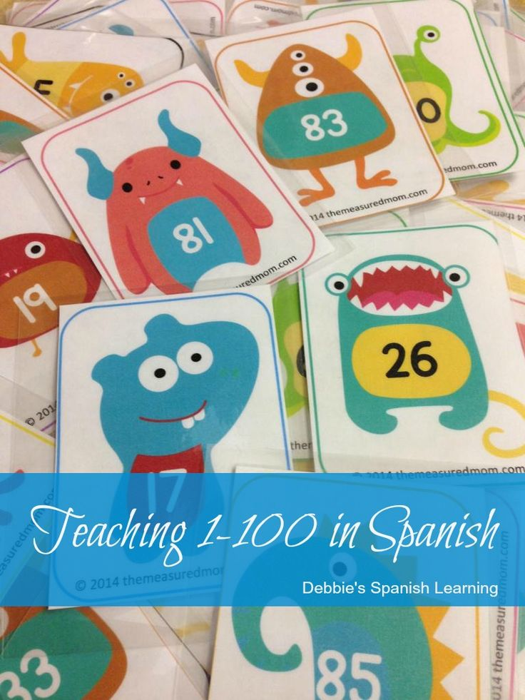 Teaching 1-100 in Spanish