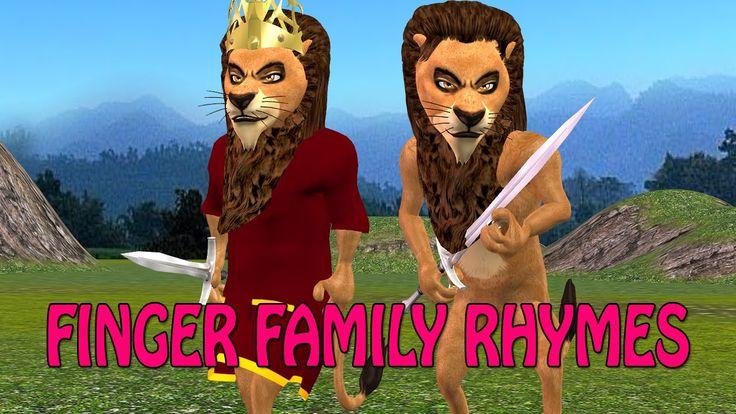 3d finger family | 3d lion finger family | lion finger family nursery rh...