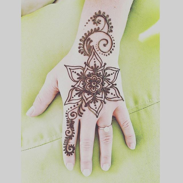 One of our new lovely henna hand designs for this summer £15 come on down to see us on Lyme Regis seafront #lymebayhairandhenna .  .  .  #lymebay #lymeregis #henna #hennahand #handtattoo #boho #hippy #beach #summer