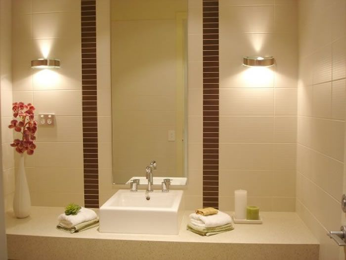 Baño Minimalista Pequeno:Bathroom Lighting Fixtures Ideas