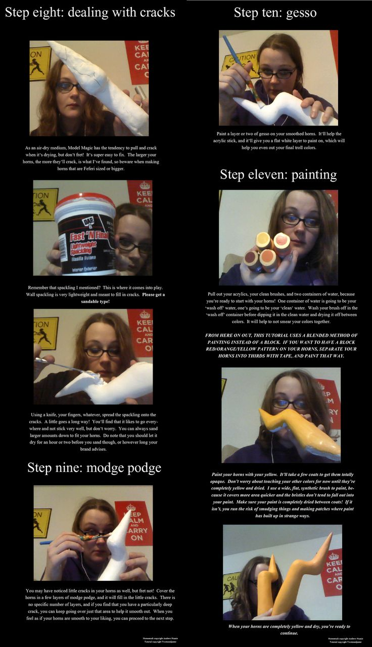 Homestuck Troll Horns Tutorial 3/4 by TwoToned-Jester