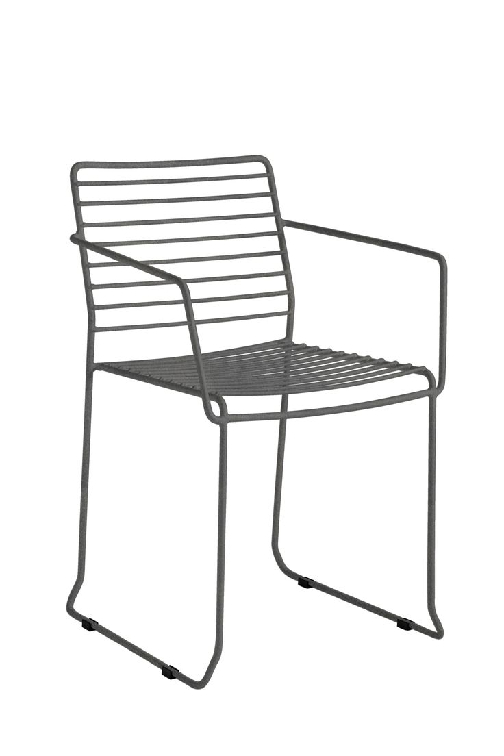 Wire outdoor chairs - Tarifa Garden Chair With Armrests Sled Base Galvanized Steel Garden Chair Electro Galvanized Steel Wire Painted And Epoxy Lacquered Tarifa Isi Ma