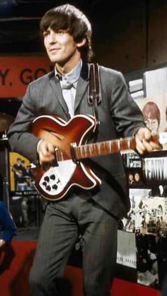 George Harrison & his Rickenbacker