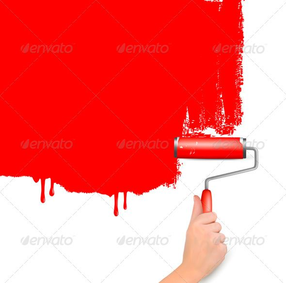 Realistic Graphic DOWNLOAD (.ai, .psd) :: http://hardcast.de/pinterest-itmid-1004397897i.html ... Red Background with Hand and Copy Space ...  background, blank, brick, color, copy, cover, decor, drop, fluid, hand, handle, home, life, paint, plan, plane, red, roll, shape, shiny, space, steel, stone, symbol, tool, wall, white, work  ... Realistic Photo Graphic Print Obejct Business Web Elements Illustration Design Templates ... DOWNLOAD :: http://hardcast.de/pinterest-itmid-1004397897i.html