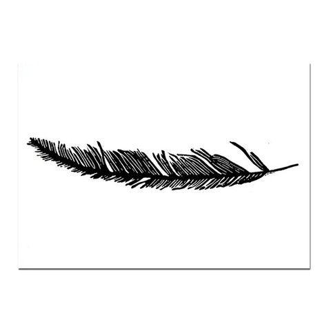 Linoleum Print : Feather