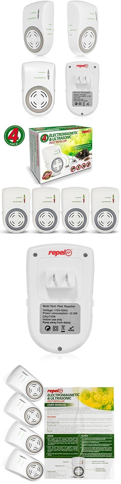 Ultrasonic Pest Repellers 181035: Ultrasonic Pest Repeller Pest Control Mice Rats Roaches 4 Pack Plug In White -> BUY IT NOW ONLY: $47.53 on eBay!