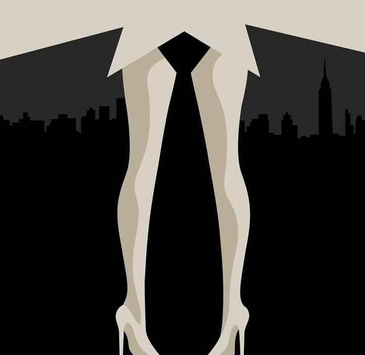 Another zinger from Noma Bar: Mad Men for Empire… appropriately wicked Drapery