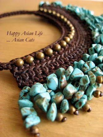 necklace  crochet ile ilgili görsel sonucu