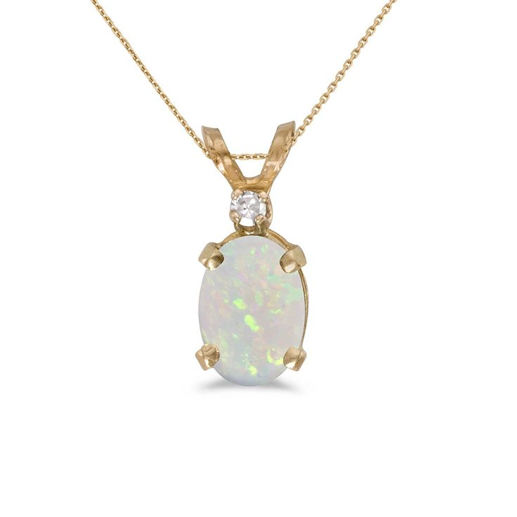 """Christmas Gift Ideas for Women > 14k Yellow Gold Oval Opal And Diamond Pendant with 18"""" Chain >> https://www.amazon.com/Yellow-Gold-Diamond-Pendant-Chain/dp/B004N0U5FS/ref=as_li_ss_tl?s=apparel&ie=UTF8&qid=1480867700&sr=1-682&nodeID=7454880011&linkCode=ll1&tag=squidlnk-20&linkId=77307a113cd4908ed18187b94e968be2"""
