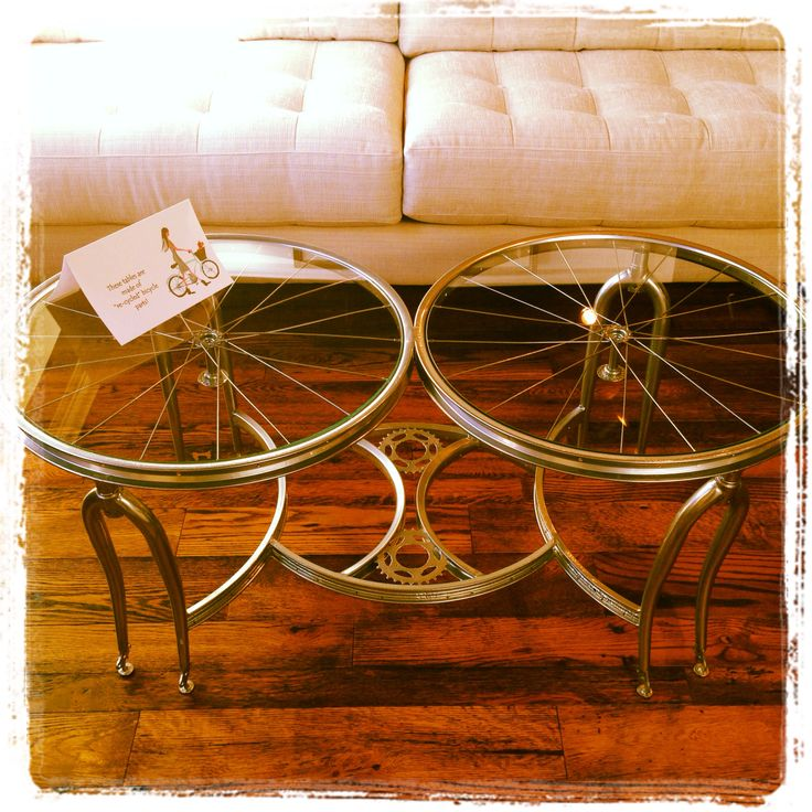 Elegant Bicycle Coffee Table: We Love This Coffee Table Made From Recycled Bicycle  Parts! Find
