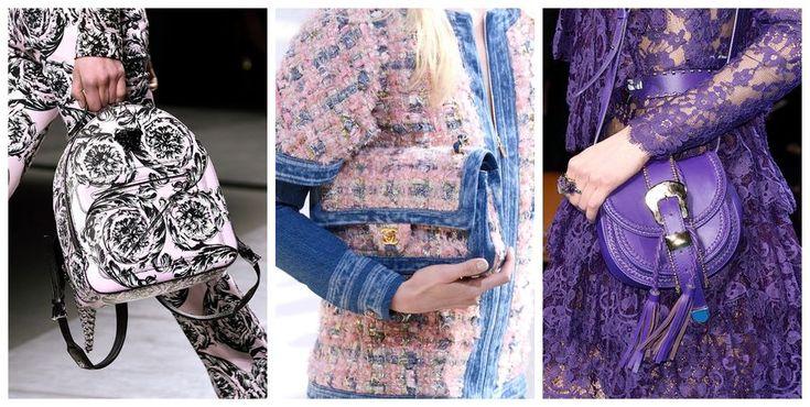 Modne torebki [jesień-zima 2016/2017], Versace, Chanel, Elie Saab, fot. Imaxtree, kolaż ELLE.pl