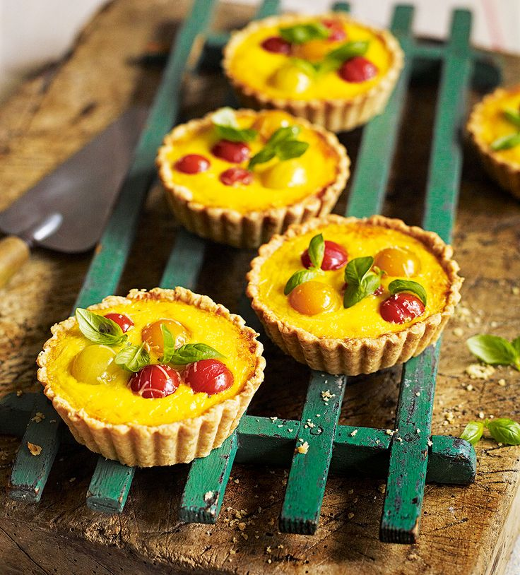 Debbie Major's tomato tart recipe is made with saffron and parmesan cheese. They make a perfect summery lunch served with a green salad.