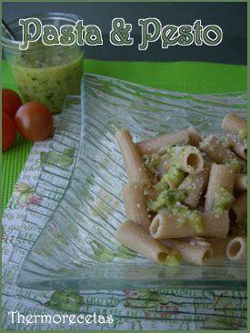Recetas de Pasta al pesto en Thermorecetas.  #recetas #thermomix #pasta