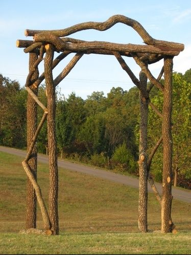 9 best images about Rustic Log Arbors and Arches on our
